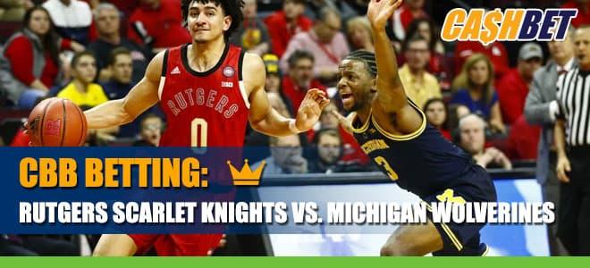 NCAA Basketball: Rutgers Scarlet Knights vs. Michigan Wolverines Betting Information
