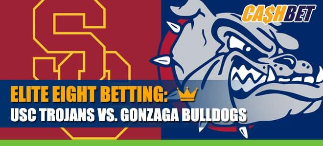 USC Trojans vs. Gonzaga Bulldogs Latest Elite 8 Odds