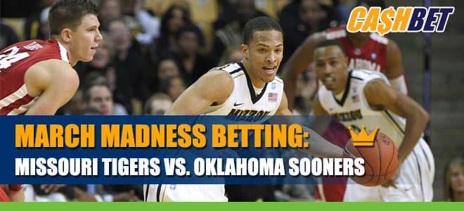Missouri Tigers vs. Oklahoma Sooners Betting March Madness