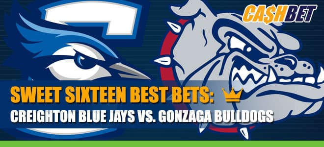 Creighton Blue Jays vs. Gonzaga Bulldogs Sweet 16 betting odds and picks