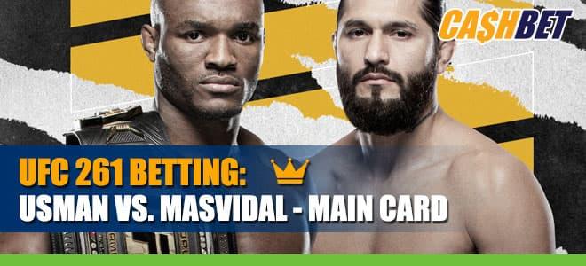 UFC 261: Usman vs. Masvidal Main Card betting