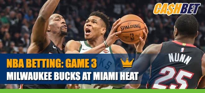 Milwaukee Bucks vs. Miami Heat Game 3Playoffs Betting Info