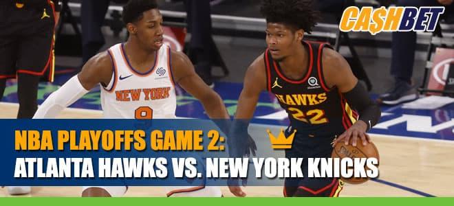 Atlanta Hawks vs. New York KnicksGame 2 Betting Info, Odds