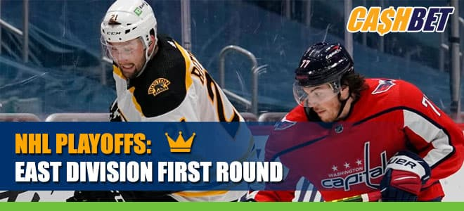 Boston Bruins (33-16-7) vs. Washington Capitals NHL East Division First Round Best Bets and Odds