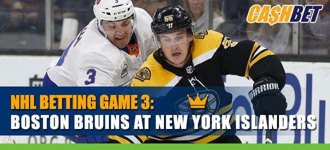 NHL Game 3 Betting: Boston Bruins vs. New York Islanders Picks
