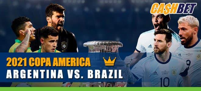 2021 COPA America Championship Argentina vs. Brazil Betting Information