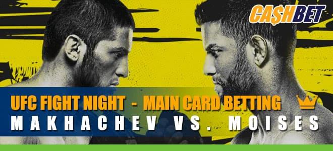 UFC Fight Night Makhachev vs. Moises - Main Card Betting Information
