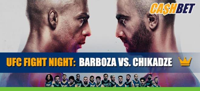 UFC Fight Night: Barboza vs. Chikadze Betting Information and Odds