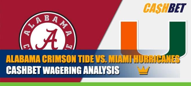 Alabama Crimson Tide vs. Miami Hurricanes Betting Information