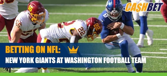 New York Giants vs. Washington Football Team Betting Information