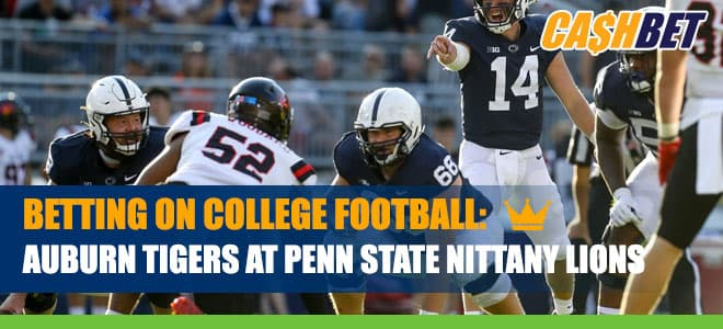 Auburn Tigers at Penn State Nittany Lions CashBet Odds Analysis