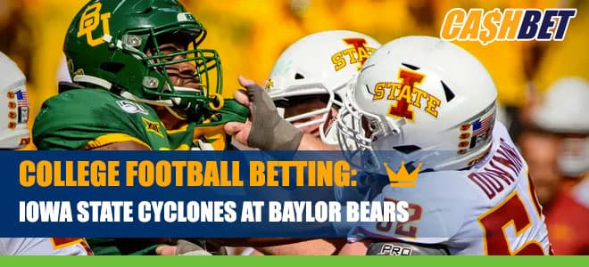 Iowa State vs. Baylor College Football Betting Info, Odds and Predictions