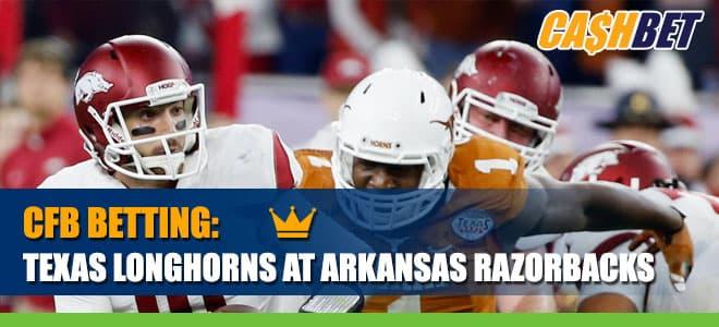 Texas Longhorns vs. Arkansas Razorbacks Betting Information