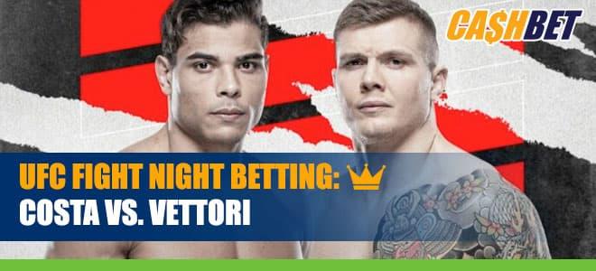 UFC Fight Night – Costa vs. Vettori Betting Information